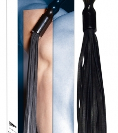 ZADO - leather whip with wavy handle (black)