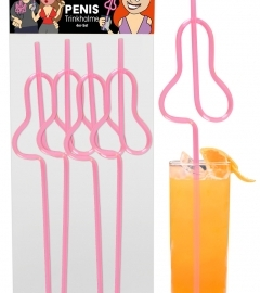Penis Straws pack of 4