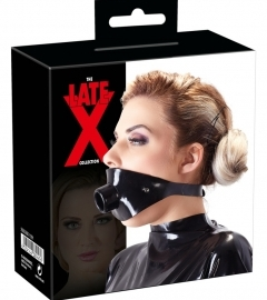 LATEX - soap mask with suction tube (black)