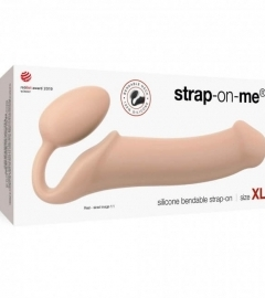 STRAP-ON BENDABLE dildo (skin color) XL