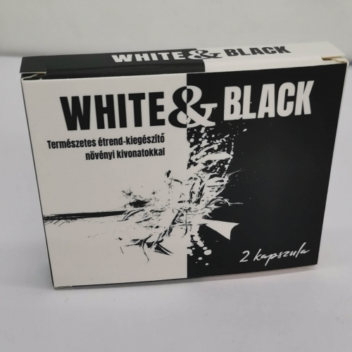 White & Black - strong, dietary supplement for men (2pcs)