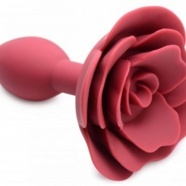 Booty Bloom Silicone Anal Plug With Rose